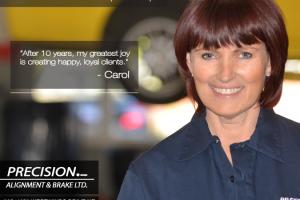 Carol Calgary Auto Repair Shop Employee